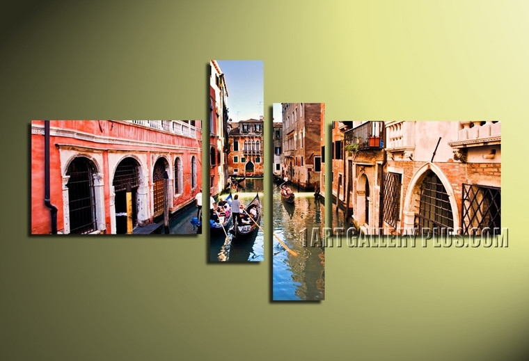 4 piece canvas wall art, city multi panel canvas, city group canvas, city photo canvas, cityscape artwork, home decor