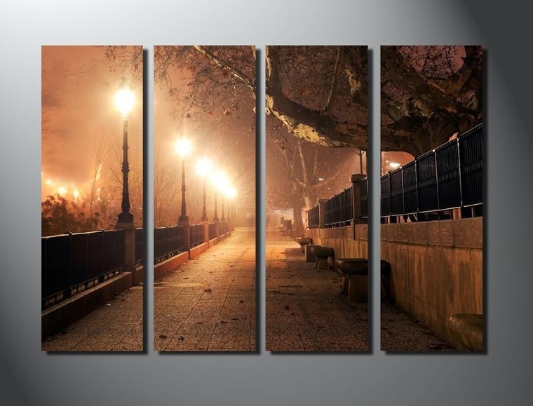 4 piece canvas print, home decor, brown scenery group canvas, scenery canvas wall art, scenery artwork