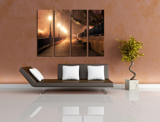 4 piece group canvas, living room canvas wall decor, living room canvas print, scenery huge canvas art, scenery art