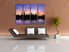 4 piece canvas wall art, living room large pictures, purple artwork, new york city huge canvas art, cityscape photo canvas