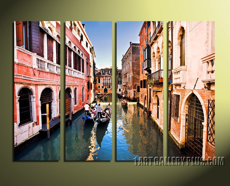 4 piece canvas wall art, city multi panel canvas, city group canvas, city photo canvas, cityscape artwork, home decor