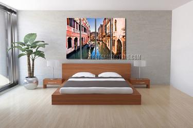 4 piece canvas print, colorful city huge canvas art, city canvas wall art, city huge canvas photography