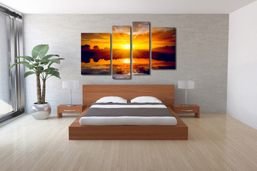 4 piece photo canvas, bedroom large pictures, scenery group canvas, scenery huge canvas art, scenery decor