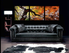 3 piece canvas wall art, living room huge pictures, orange photo canvas, scenery art, panoramic canvas photography