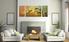 3 piece canvas print, living room multi panel canvas, orange wall decor, scenery group canvas, panoramic huge canvas art