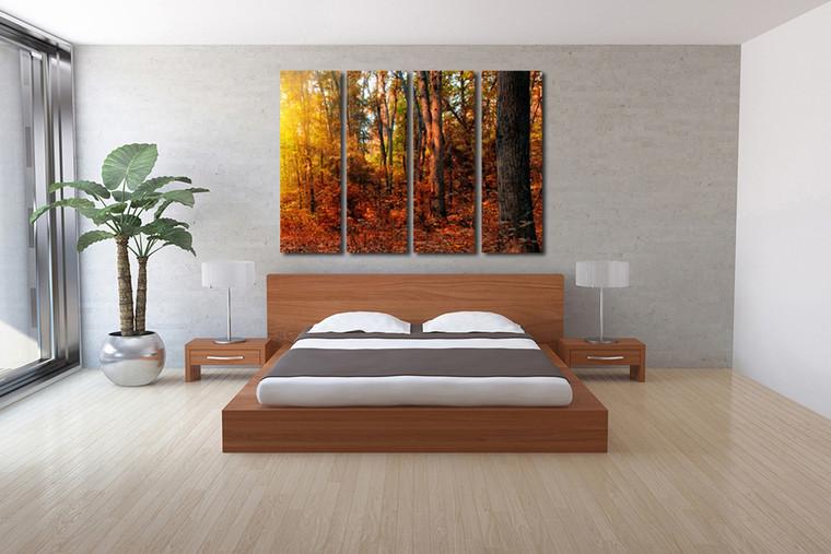 4 piece large canvas, bedroom huge canvas art, scenery group canvas, scenery canvas wall art, scenery artwork