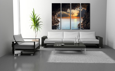 4 piece large pictures, living room canvas print, ocean multi panel canvas, ocean multi panel canvas