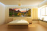 3 piece huge canvas print, bedroom canvas print, landscape multi panel art, green huge pictures, panoramic artwork