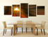 dining room large pictures, 5 piece canvas arts, abstract art, abstract photo canvas, abstract canvas wall art