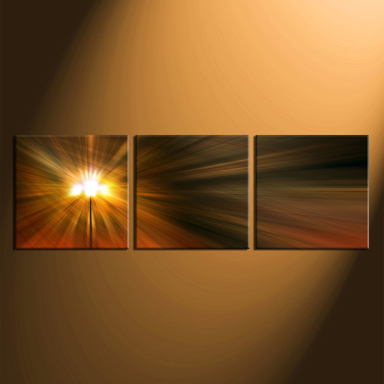 home decor, 3 piece canvas arts, orange artwork, abstract huge canvas art, panoramic abstract canvas wall art