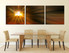 dining room art, 3 piece canvas arts, abstract art, abstract photo canvas, panoramic abstract canvas wall art