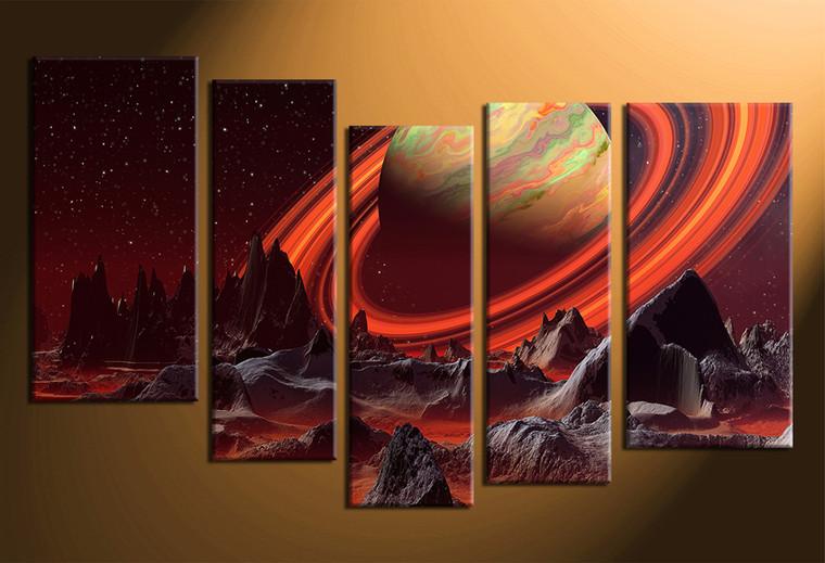 5 piece canvas photography, home decor art, landscape huge pictures, landscape wall decor