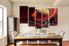 5 piece large canvas, dining room canvas wall art, landscape brown artwork, landscape huge pictures, landscape art