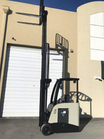 2011 Crown Electric Forklift, Narrow Aisle Counterbalance, Dockstocker