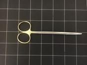Bottom view photo of Miltex 5-180A-TC Metzenbaum Delicate Pattern Curved Scissors