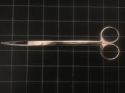 "Photo of Codman 37-4036 COOLEY Curved Cardiovascular Scissors, 7.5"""