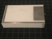 "Photo of W. Lorenz 02-9217 Teflon Cartilage Graft Cutting Block with Scale, 8"" X 4"""