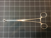 Left side view of V. Mueller SU5001 Babcock Tissue Forceps