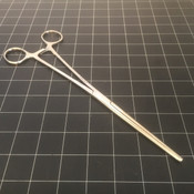 Photo of Codman 30-8090 Rochester-Ochsner Forceps, 1X2 Teeth, 10""