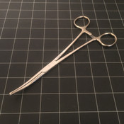 Photo of Codman 32-4131 Rochester-Ochsner Curved Forceps, 8""