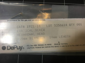 Label view of Depuy 1921-14 Cortical Screw 2.0 mm X 14 mm