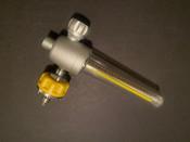 Photo of Gentec FM187A-15L-OH Medical Air Flowmeter, 15L, Ohmeda