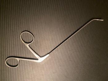 Photo of BOSS 93-5765 Frontal Sinus Recess Giraffe Forceps, 45°, 3mm Cup