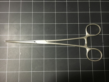 "Left side photo of  Aesculap BH447R Rochester-Pean Curved 8"" Artery Forceps"