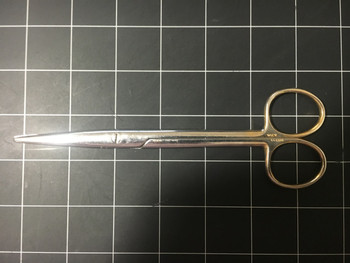 """Left side photo of Weck 464610 Straight 6.75"""" Mayo Dissecting Scissors"""