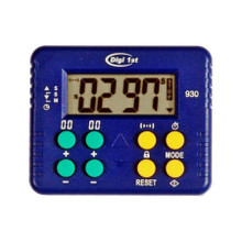 Digi 1st T-930 9999M/9999S Desk Count Up and Countdown Timer with Clock. Custom Imprinting available. Featuring ability to count in seconds for a long time, this timer have wider application and can be used as a kitchen timer, lab timer, and game timer. It can also be a meditation timer because of its silent function.