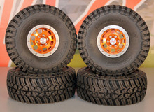 RC4WD 1.9 Bead locks w/ Associated tires w/ CI Foam SET (4)