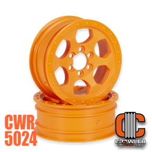 "2.2""; 1"" Width; Orange; 6 Bolt Wheel Pair"