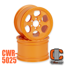 "2.2""; 1.50"" Width; Orange 6 Bolt Wheel Pair"
