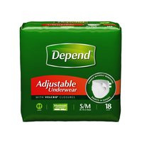 Depend Adjustable adult protective underwear product packaging