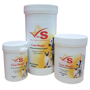 A complete coat supplement for dogs and cats.