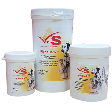 An immune support supplement for cats and dogs.