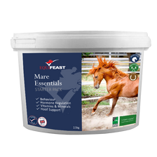 Chelated calcium and herbal horse calmer for hormonal mares