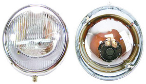 "356 ""Hella"", NOS, German, Head Light Bucket Assembly"