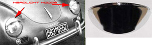 356 Headlight Hoods, Stainless Steel, Pr, All 356