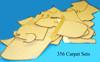 Carpet Set Suppliment, W/Out Mat, 356 D Convertible & 356B Roadster