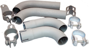 Porsche 356BT6 Euro & 356C Euro Version Tail Pipe Kit, Dansk, 356B Super 90, C, SC