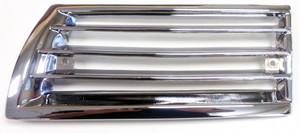 Porsche Grill,Chrome,Front Left, 911 '65-'68 & 912 '65-'69