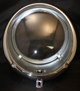Porsche Headlight Assembly 356A, 356B, 356C  W/Clear Glass, New