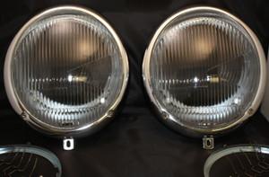 Porsche Headlight Assembly, Asymmetrical Glass, 356A, 356B, 356C
