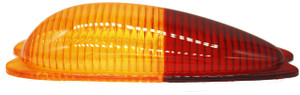 Tail Light Lens,Amber/Red Euro,Left,356A,356B,356C