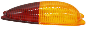 Tail Light Lens,Amber/Red,Euro,Right,356A,356B,356C