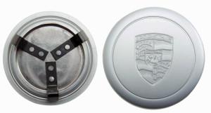 Porsche Wheel Cap, O.E. Silver, 66mm, 911, 912, 914
