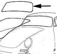 Seal Windshield, 356B/C Reutter Body & Cabriolet