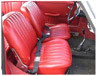 Seat Upholster Kit, Front Seats, 356A/B/C, Leather, Choose Color