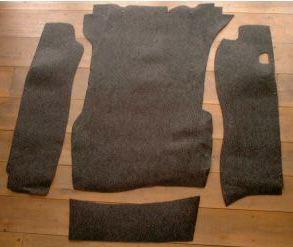 Trunk Carpet Set, 911, Original Perlon Material, Choose Model